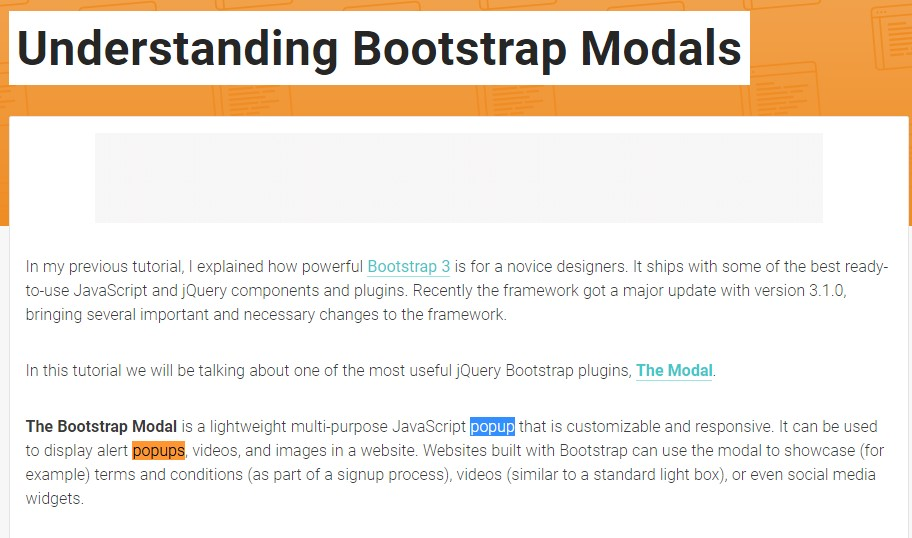 Yet another  practical  information  relating to Bootstrap Modal Popup