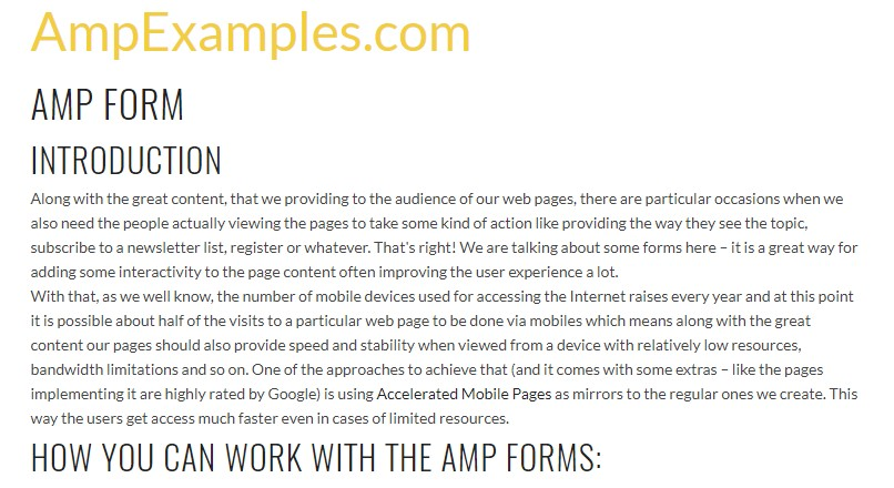 Let's  check out AMP project and AMP-form  component?