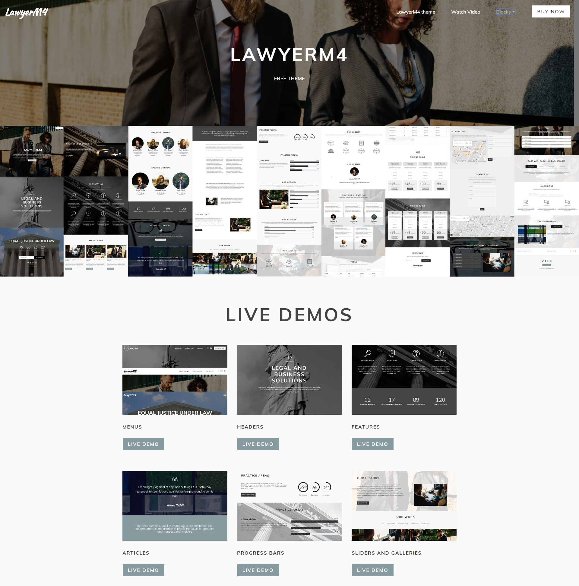 Free Bootstrap LawyerM4 Templates