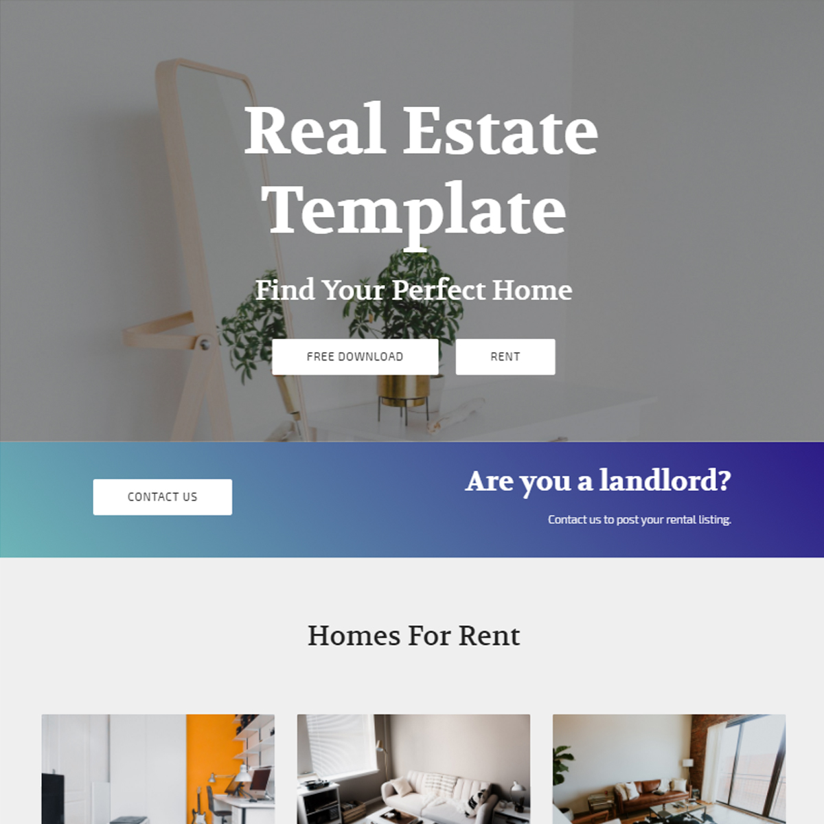 Free Download Bootstrap Real Estate Themes