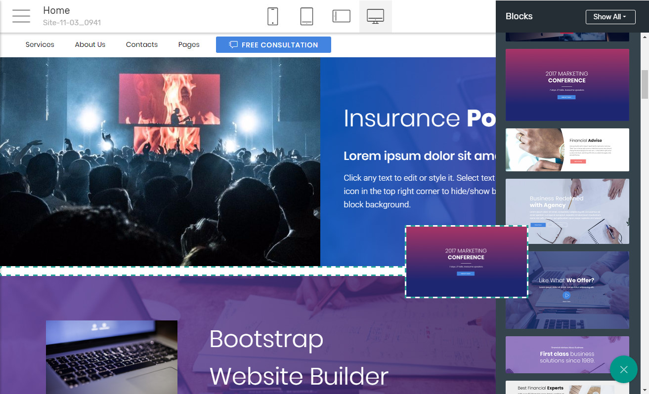 Responsive Page Software
