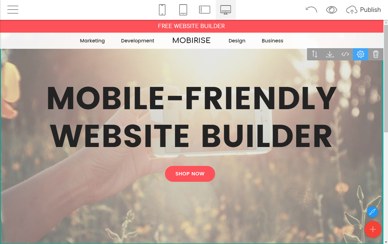Mobile-friendly Website Creator